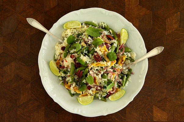Salatka ryzowa z kurczakiem 2