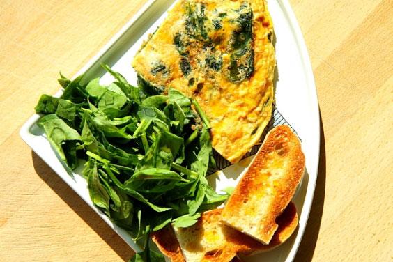 Frittata ze szpinakiem (szybkie śniadanie w wersji de luxe) 11