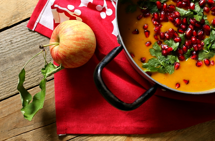 Zupa imbirowa z dyni i jabłek