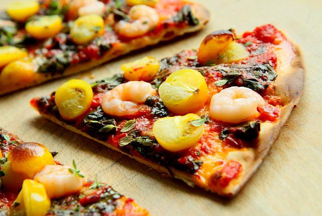 Pizza z krewetkami L_17