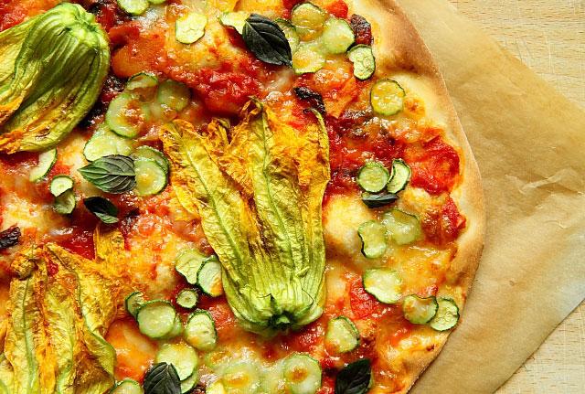 Pizza kwiaty cukinii L_15