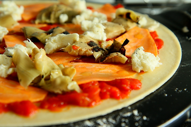 Pizza karczochy bataty L_02