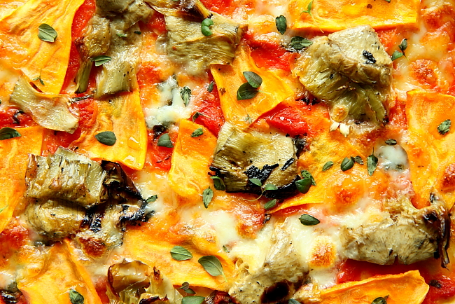 Pizza karczochy bataty L_16