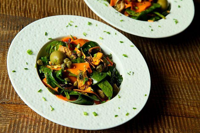 Salatka ze szpinaku i babatowL_07