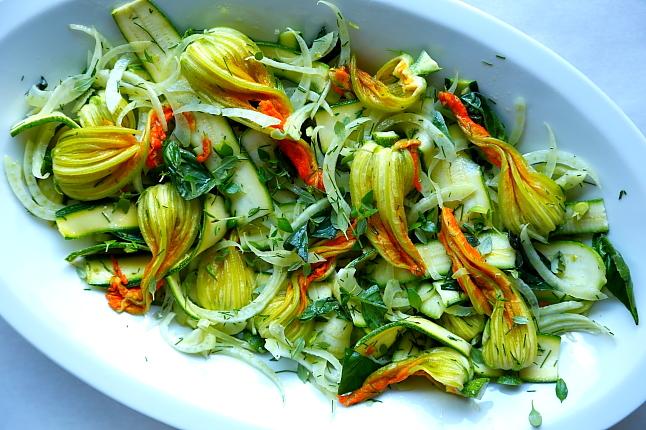 Salatka kwiaty cukinii L_002
