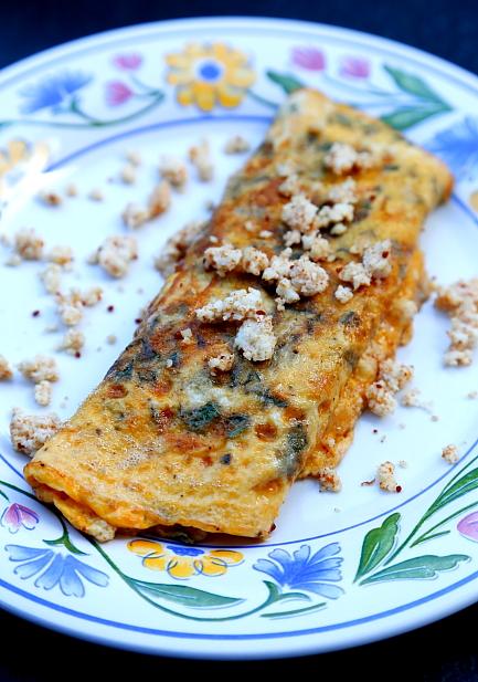 Omlet z domowym serem L_03