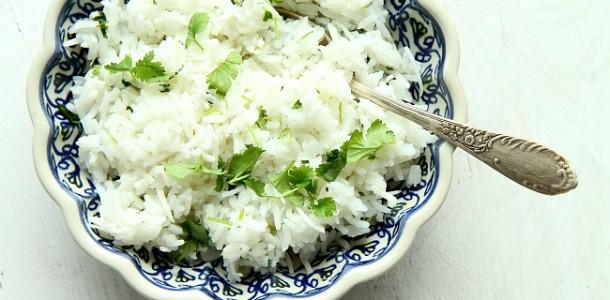 Kokosowy Ryz Z Kolendra I Limonka Facet I Kuchnia