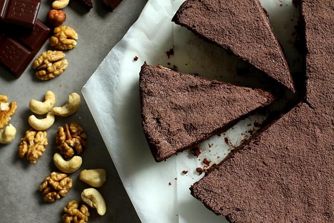 Ciasto orzechowo czekoladowe L_02