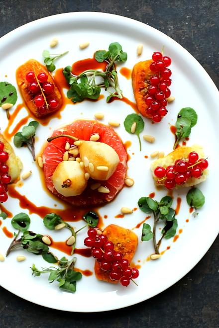 Gruszka, grapefruit, kaktus, rukiew, porzeczki