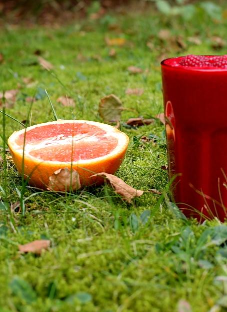 Smoothie malinowe z sokiem grapefruitowym bez cukru