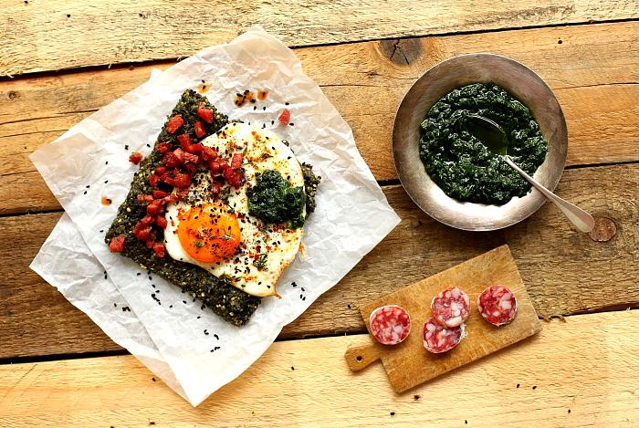 Zielone pieczywo z jajkiem L_08