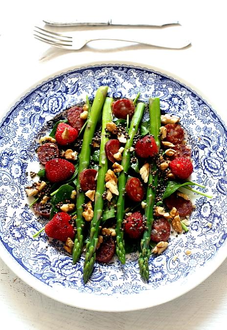 Salatka szparagi truskawki L_06