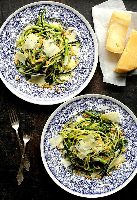 Spaghetti z cukinii szparagi L_04