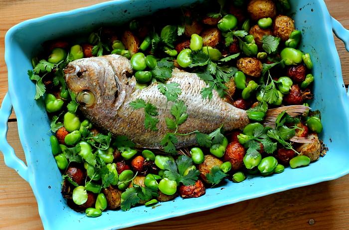 Dorada z warzywami L_01