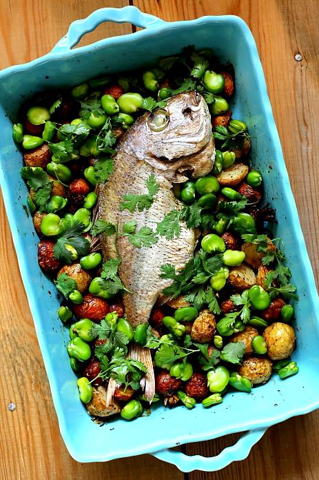 Dorada z warzywami L_06