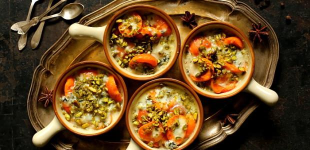 Morele zapiekane z gorgonzolą
