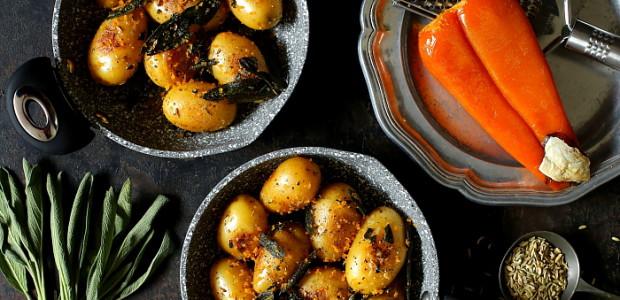 Ziemniaki z bottargą i masłem szałwiowym