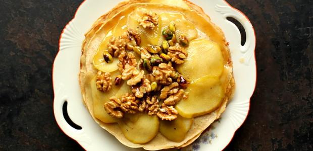 Crepes z jabłkami i calvadosem – bezglutenowe francuskie naleśniki