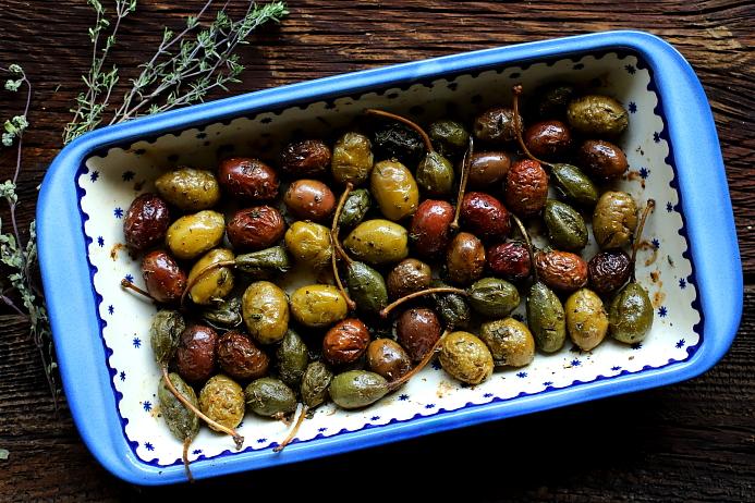 Pieczone oliwki
