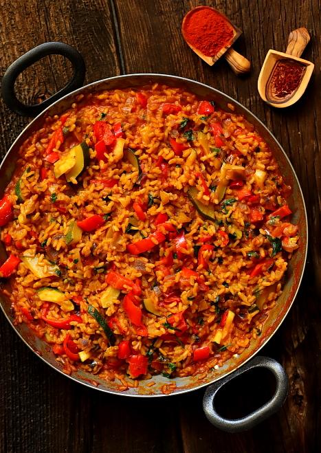 Paella z papryką