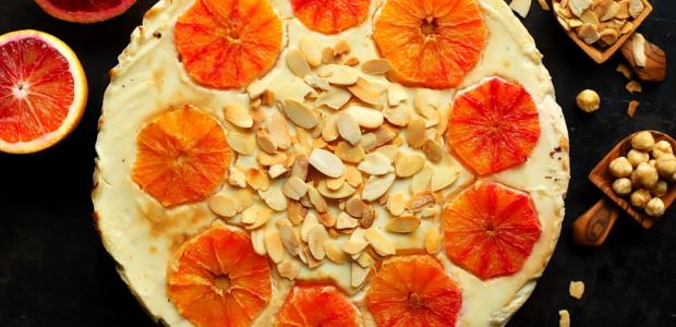 Świąteczny sernik pomarańczowy