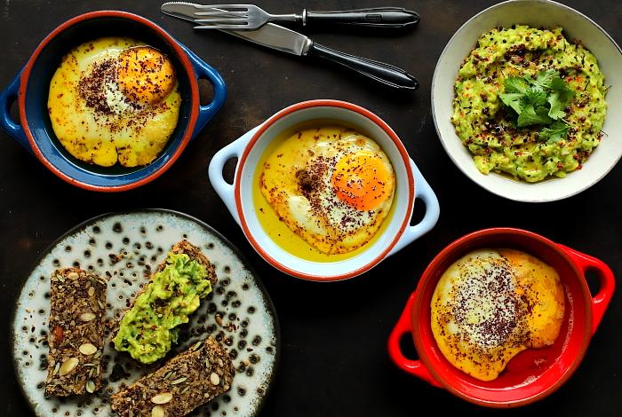 Jajka pieczone w oliwie