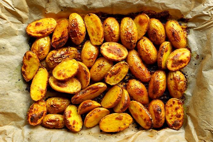 Ziemniaki pieczone z miodem
