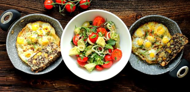 Jajka przepiórcze zapiekane w oliwie