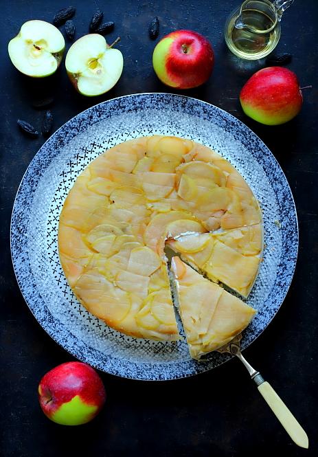 Ricotta pieczona z jablkami