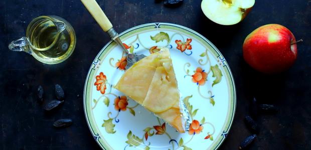 Ricotta pieczona z jabłkami i calvadosem