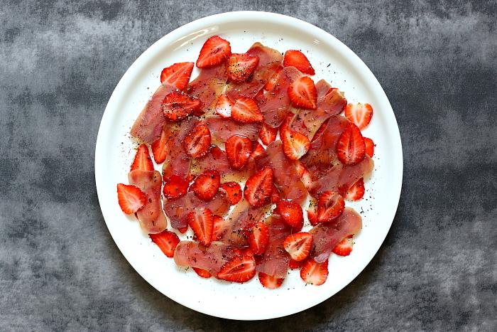 Mojama z truskawkami