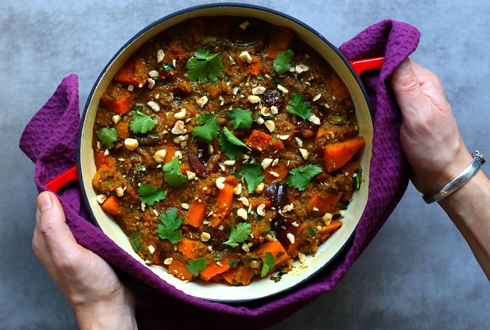 Curry z dyni i śliwek
