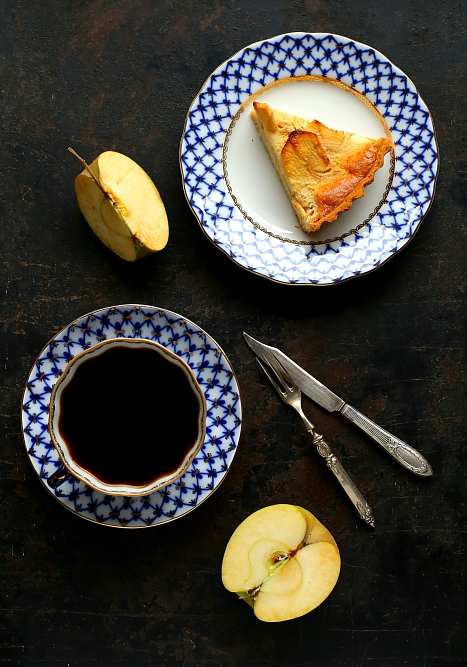 Tarta normandzka z jabłkami