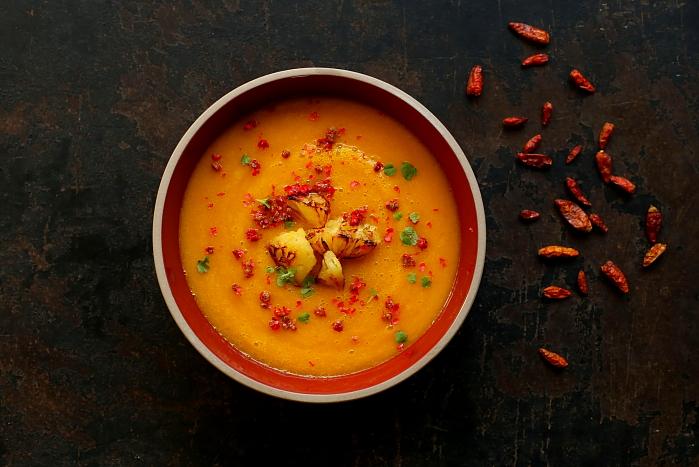 Zupa z dyni i persymony