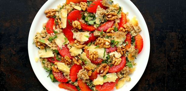 Salatka Z Quinoa I Cytrusow Latwy Przepis Na Zime Facet I Kuchnia