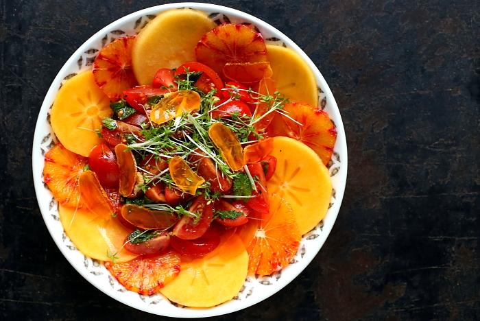 Sałatka z suszonym żółtkiem