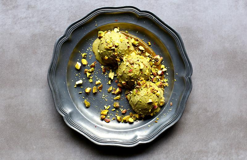 Lody pistacjowe z trzech składników