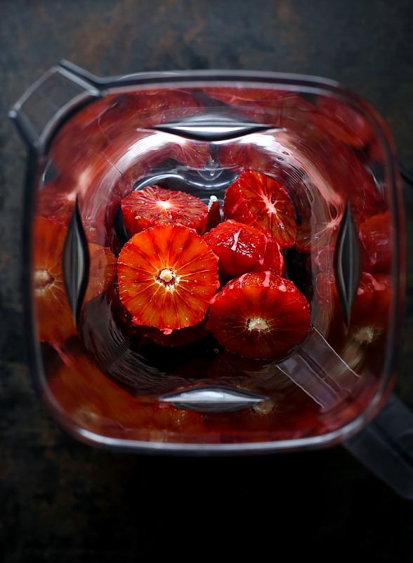Lody z czerwonych pomarańczy