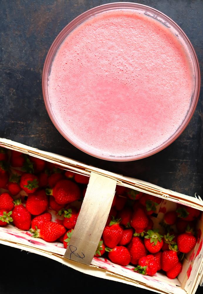 Lody truskawkowe na kefirze