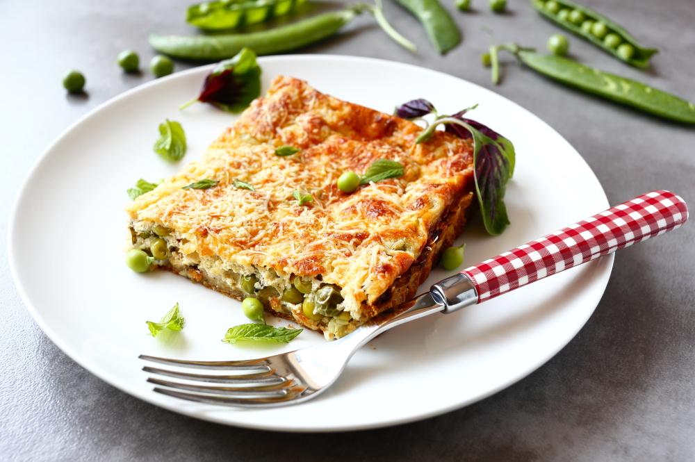 Tarta z zielonym groszkiem