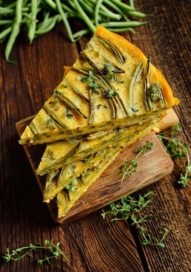 Farinata z fasolką szparagową