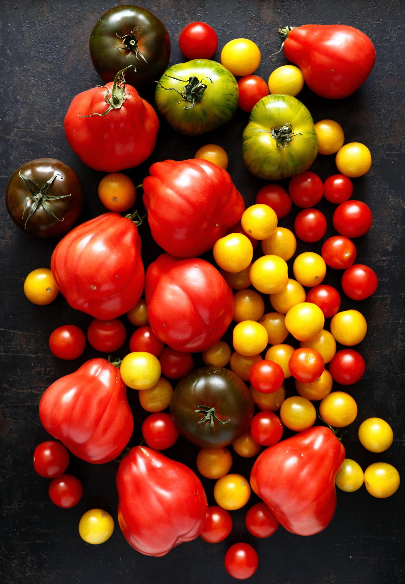 Pomidory pieczone z kwiatami cukinii