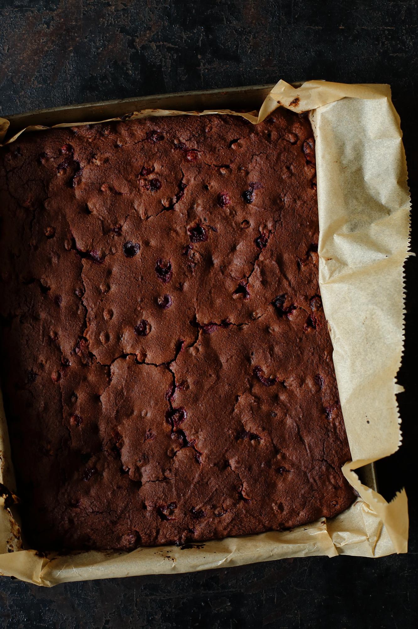 Ciasto czekoladowe z żurawiną