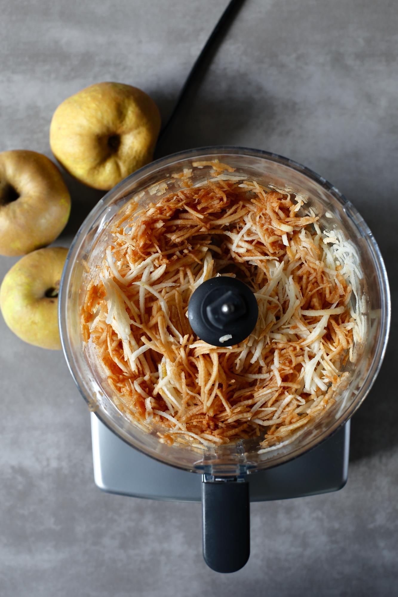 Gofry jabłkowe o smaku szarlotki