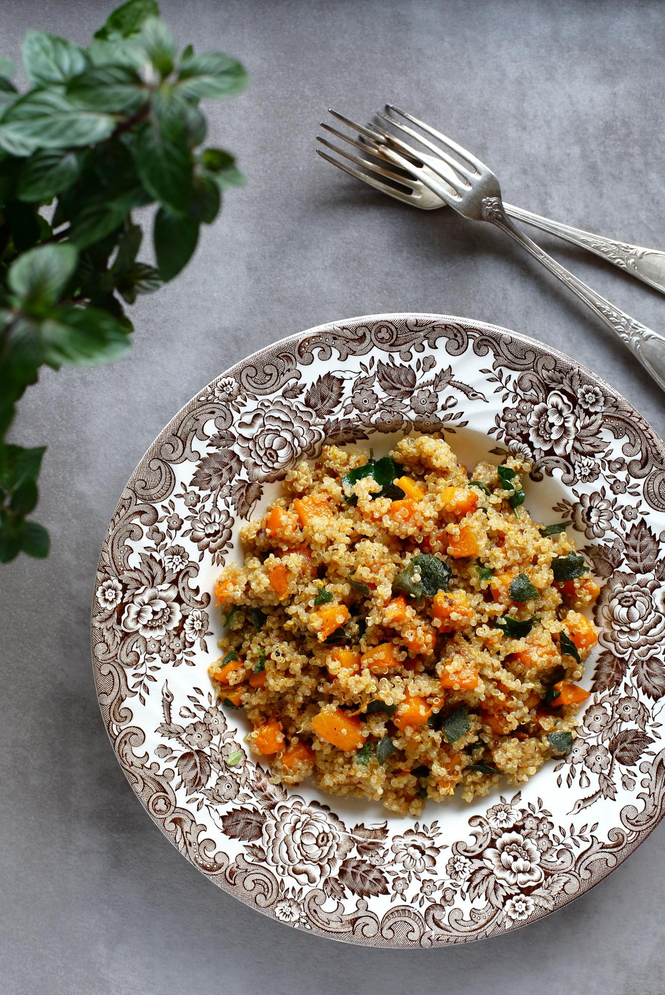 Komosa ryżowa z dynią piżmową