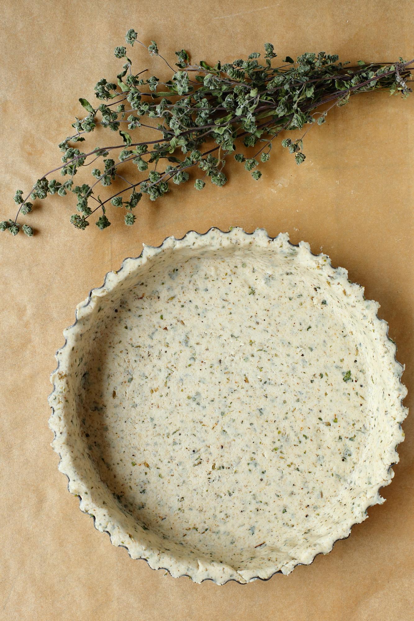 Wegańskie kruche ciasto bez glutenu