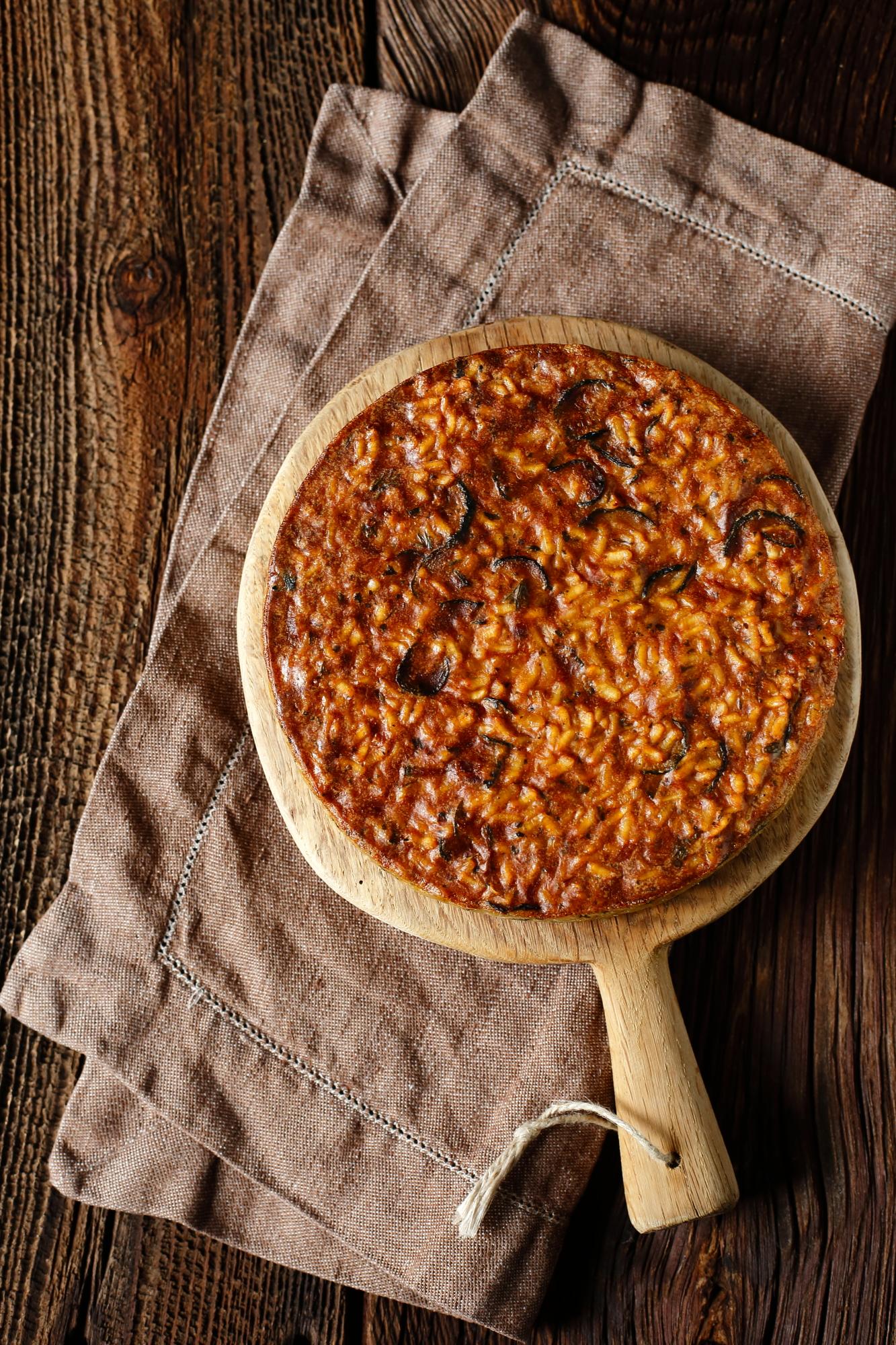 Torta di riso e zucchine - ciasto z ryżu i cukinii