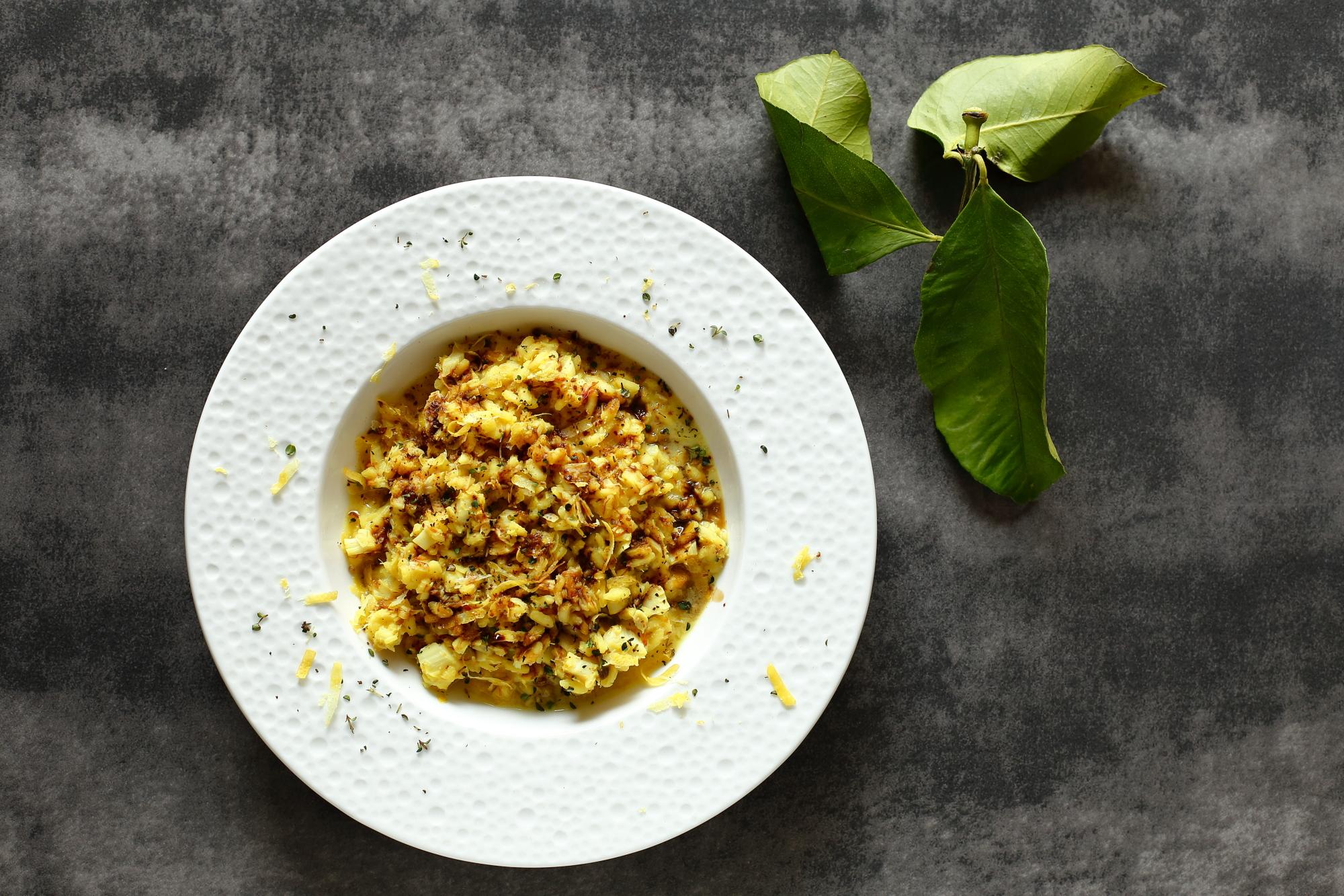 Cytrynowe risotto z dorszem