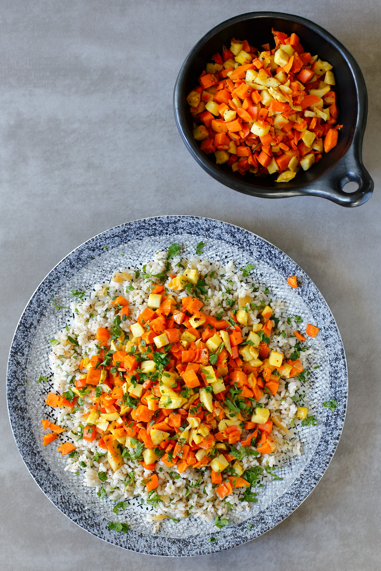 Pieczone warzywa z ryżem cytrynowym