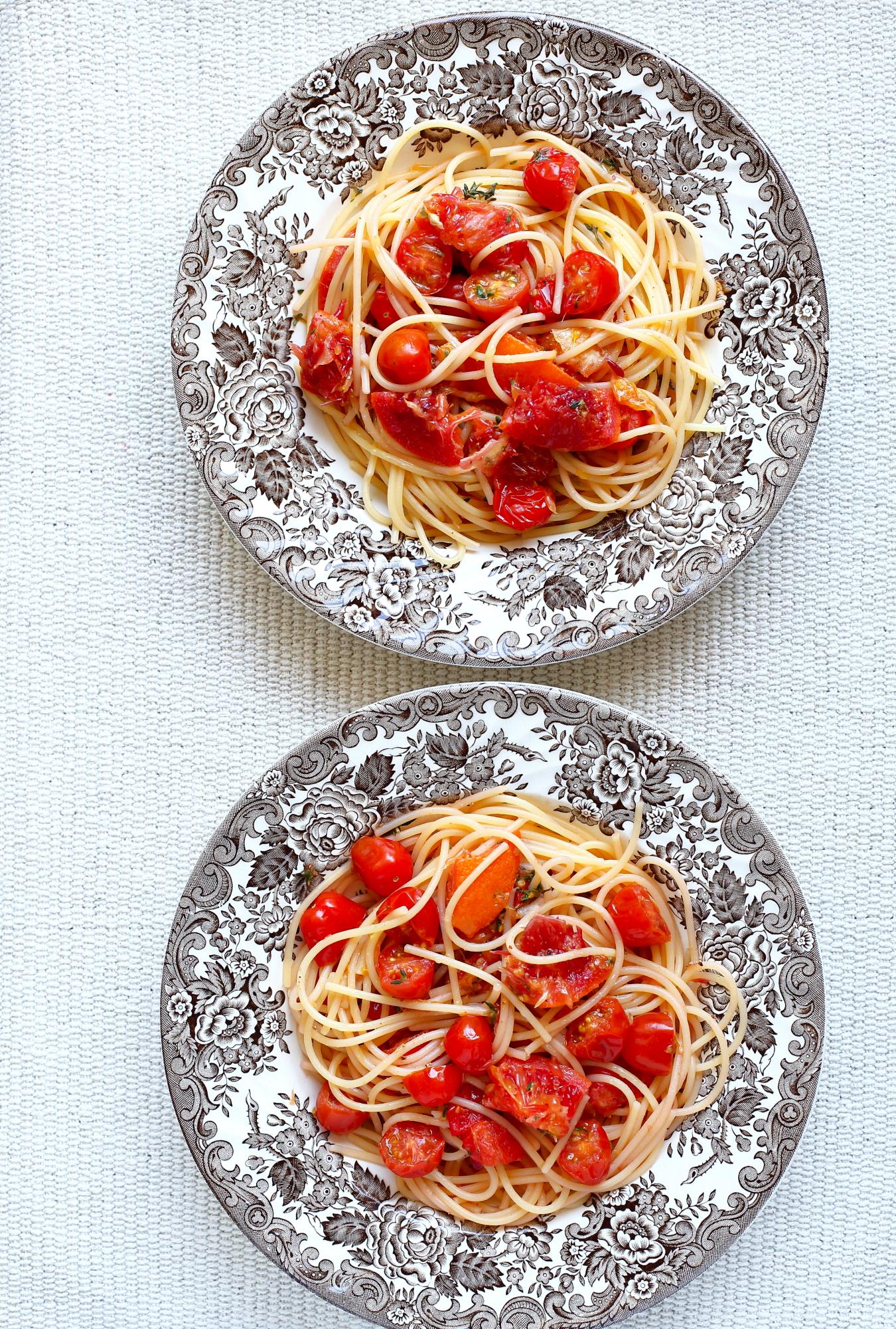 Spaghetti z sosem z pomarańczy